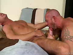 Matt passionately pumps his hole with his dick until Jordan is ready to start some fucking.