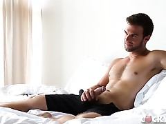 That`s all Gabriel can take so he spins Liam around and aims his thick cock at his ass and slides it deep inside with one thrust.