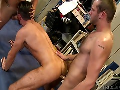 Chandler and Cesar are getting ready to move and they are cleaning out their garage. They are arguing a bit about the amount of stuff that Chandler seems to not want to part ways with when their friend Brendan shows up to help them. Noticing the tension b