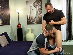 He then rolls him up and rims Kacey`s ass before slowly sticking his cock into his ass. At first, Max struggles to get his cock in Kacey`s tight ass, but with his years of experience, he knows just how to be persistent and soon Kacey`s ass is opened up an