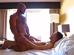 Francois fucks Sean as deep as he can go, with their bodies pressed together. He doesn`t hold back but makes sure Sean feels only pleasure before moving on. In the bedroom patiently takes it slow as they kiss again and Sean`s worshipful hands glide over h
