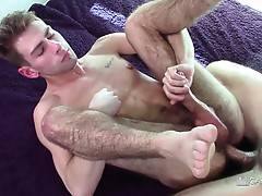 The sex flush proves he was having a good time. Let`s see him get fucked hard and often.