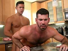 This relationship is based on team work as they both take turns rimming, sucking and fucking each other until they let loose their morning jizz.