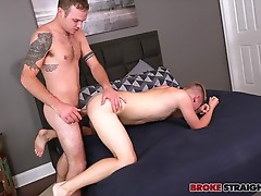 Romeo tells Connor just how he likes it as Connor works that dick and then climbs on the bed to get fucked as Romeo pushes his bareback prick into Connor�s tight hole.  He bends over to kiss Connor as he pounds him, flipping him over and taking him from b