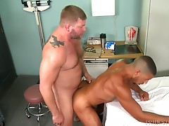 Mike has come to see the doctor because he has discovered that his ass is numb as the result of getting fucked recently by a big cock. Dr. Jansen conducts an exam on him and while inserting his fingers discovers that Mike is getting turned on. The exam ta